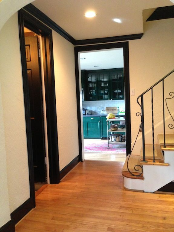 Black Doors With Oak Trim : Best images about living room on pinterest wood trim
