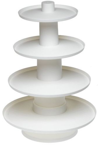 4 Tier White Stacked Cupcake and Dessert Display Tower Stand