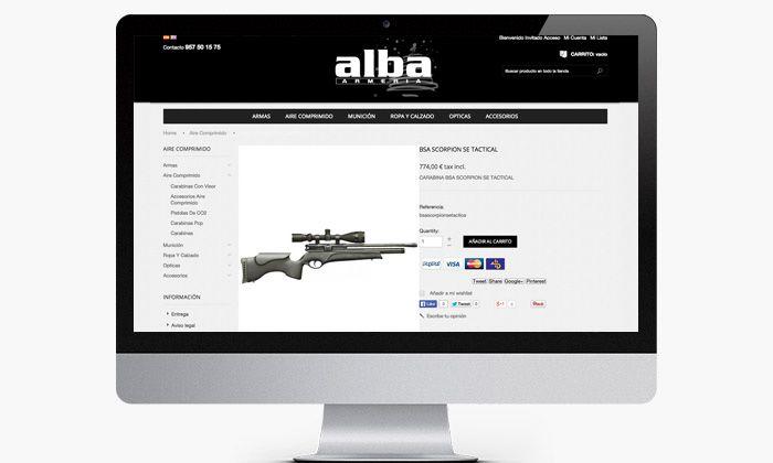 Ficha producto Armería Online
