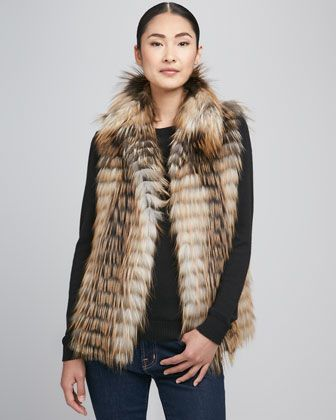 Limited Edition Smoky Fox Fur Vest by Fox Unlimited at Neiman Marcus.