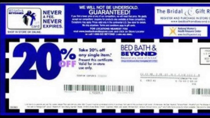 Bed Bath And Beyond 10 Dollar Off Coupon Free Printable Coupons