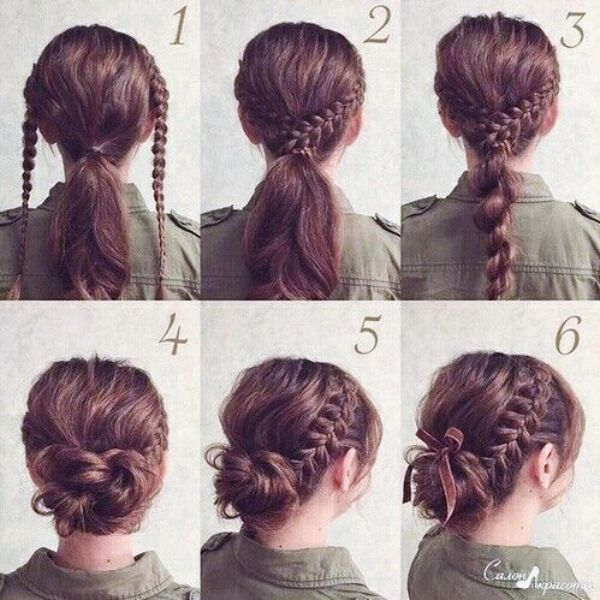 Quick And Easy Updo Tutorials For Medium Hair Braided Hairstyles Updo Hair Styles Lazy Hairstyles