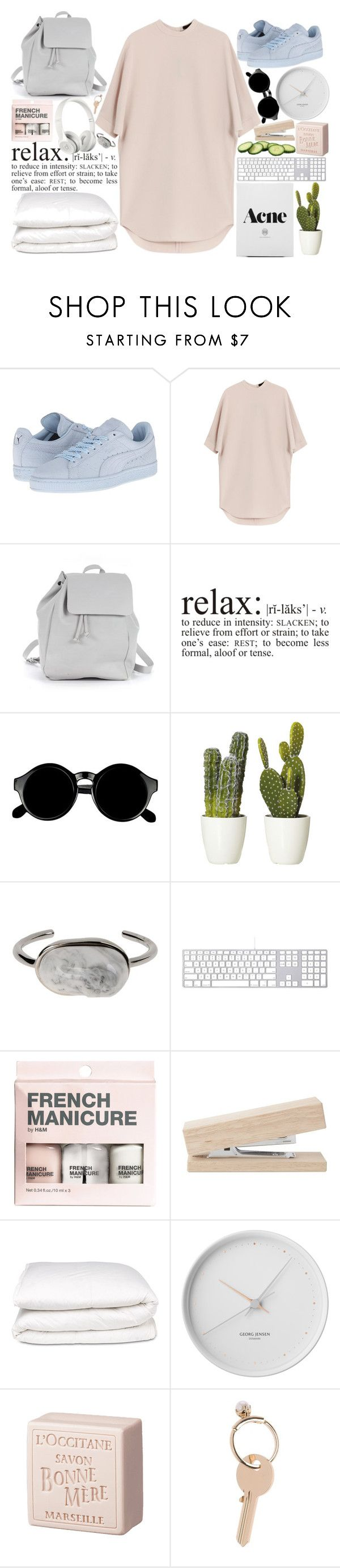 """i wanna feel your heartlines"" by janeorlova ❤ liked on Polyvore featuring Puma, Alexander Wang, Zara TRF, Retrò, Beats by Dr. Dre, Balenciaga, H&M, Selfridges, Georg Jensen and L'Occitane"