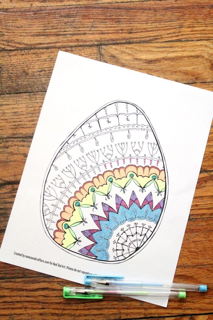 Easter Egg Coloring Pages for Adults - Oh this is just so very pretty. Love Mandala Coloring Pages at the best of times. But this Easter Egg Mandala is just adorable. Looks wonderful as part of an Easter Card DIY too. Love love love free coloring pages for grown ups.