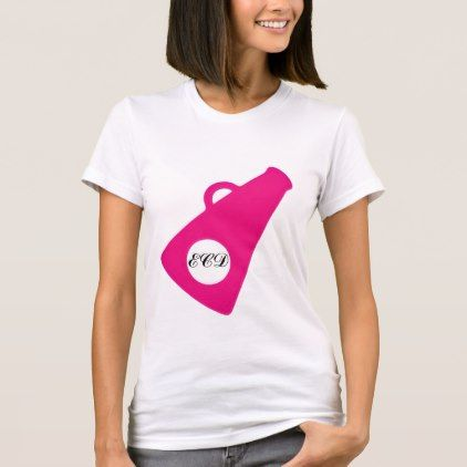 Pink Cheerleader Megaphone Monogram T-Shirt - monogram gifts unique design style monogrammed diy cyo customize
