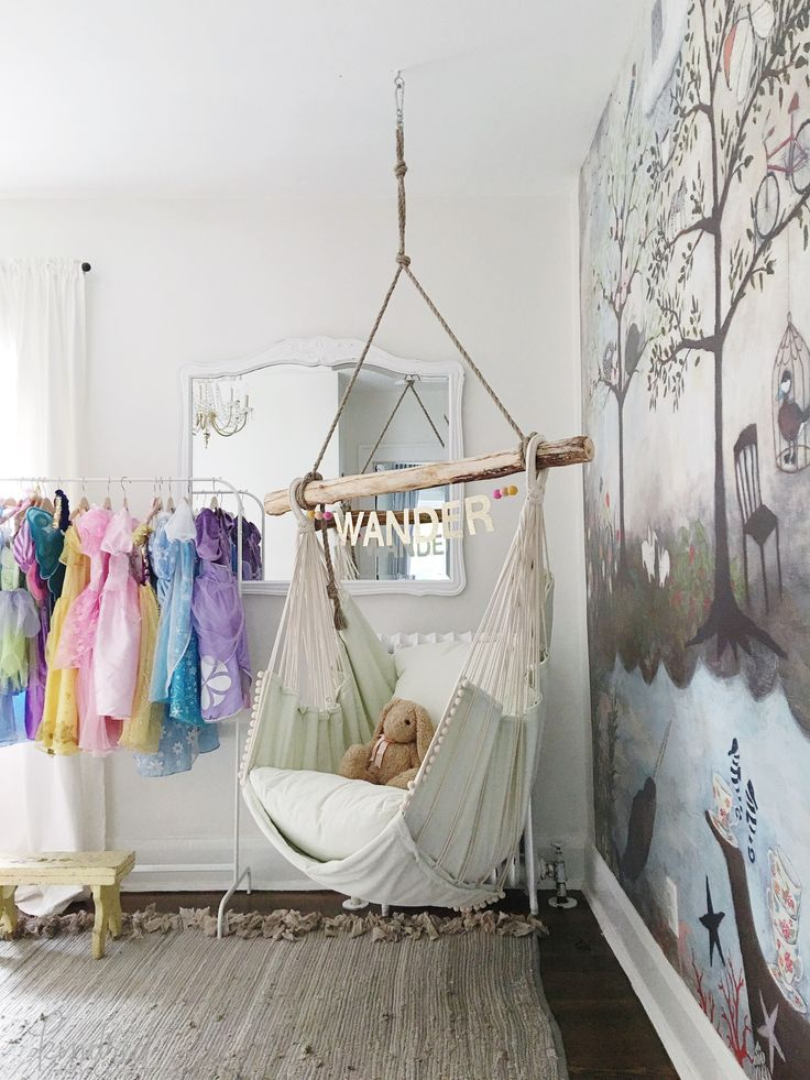 kids hanging chair for bedroom%0A If you u    re planning to get a hammock this summer  consider using another one  as decor in your little girl u    s bedroom  See more at Kindred Vintage  u     Co