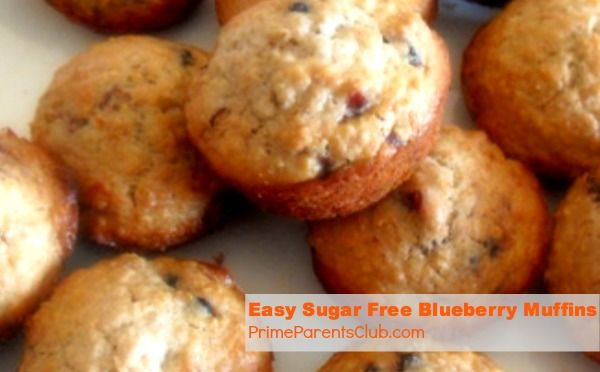 Easy Diabetic Sugar Free Blueberry Muffins