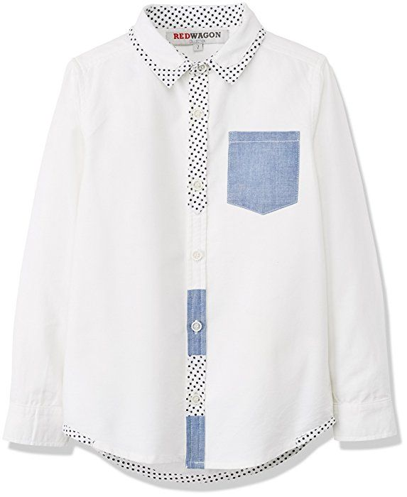 RED WAGON Boy's Party Shirt, White, 6 Years