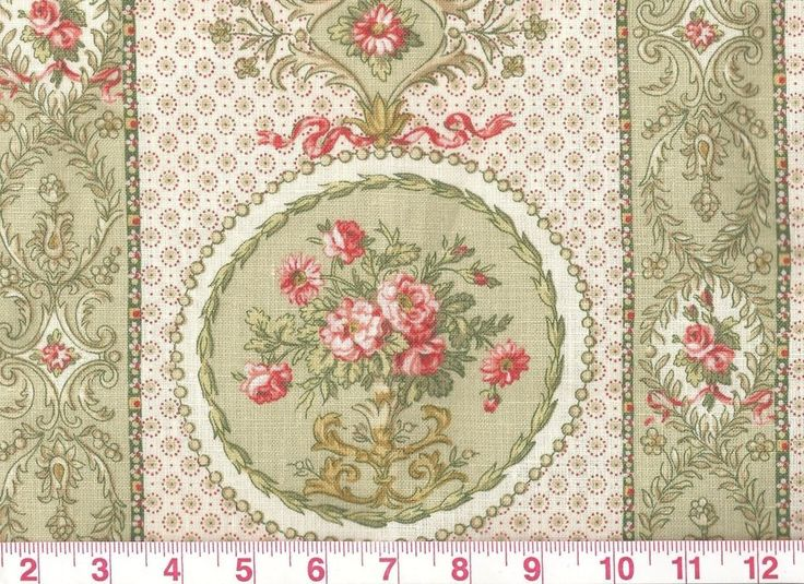 100% Linen Traditional Floral Drapery Fabric by Vervain Le Claire CL Celery #Vervain