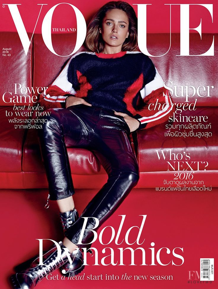 Cover of Vogue Thailand with Karmen Pedaru, August 2016 (ID:39294)| Magazines | The FMD #lovefmd