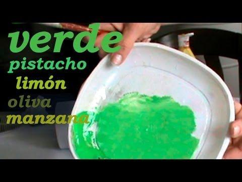 CÓMO HACER AZUL CERÚLEO, CELESTE, TURQUESA, PRUSIA - YouTube