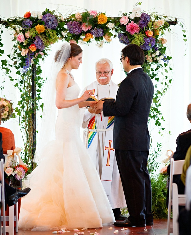Indoor Ceremony Arch // Photo: Nicole Dixon Photography // Feature: The Knot Blog