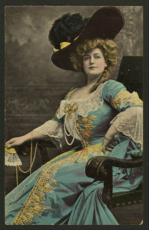 tinted photo of actress Lillian Russell from the NY library's digital collection - http://digitalgallery.nypl.org/nypldigital/dgkeysearchresult.cfm?num=0=Lillian%20Russell=1=====0=======20=
