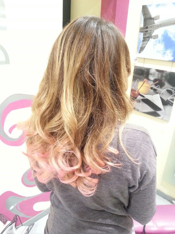 Pink shatush by Dabolhairdressers