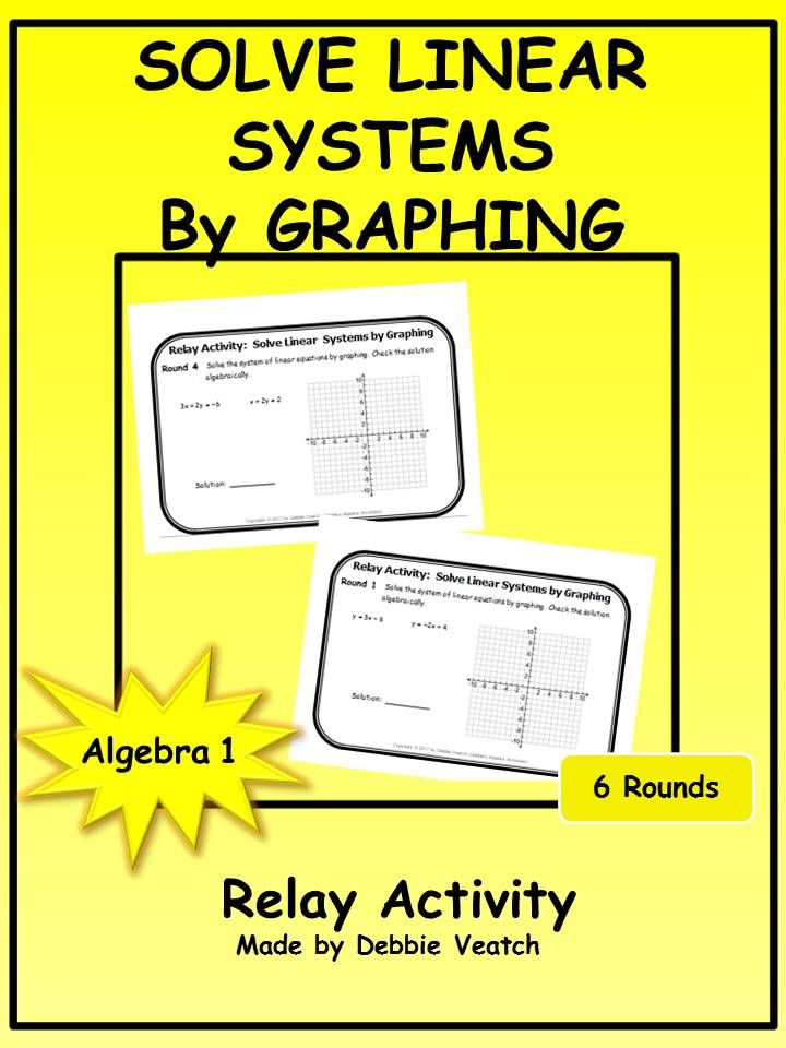 3278 best math tests images on pinterest teaching math math test a fun review of solving systems of linear equations by graphing the activity includes problems fandeluxe Images