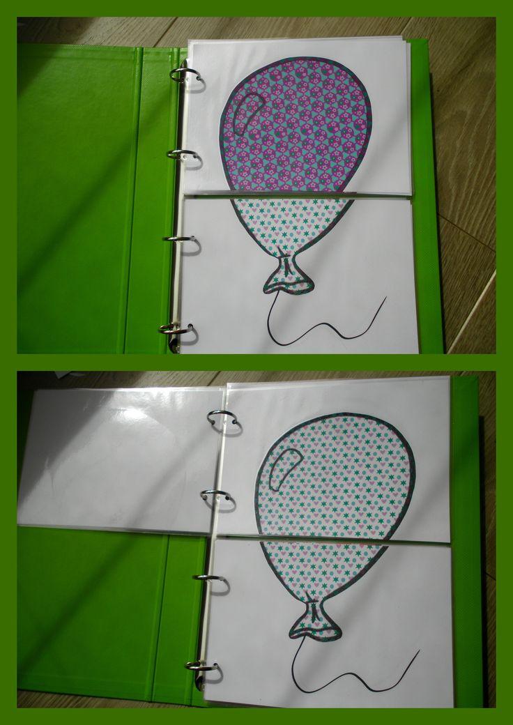 Puzzelmap met ballonnen in met verschillende patronen. Puzzels bestaan uit 2 stuks. *liestr*