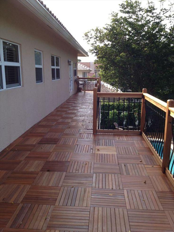 BuildDirect – Hardwood Interlocking Deck Tiles – 9 Slat - Outdoor View