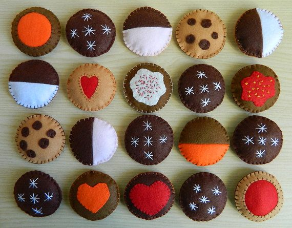 Dolci e biscotti di feltro - dolci felt food - felt cookies, cup-cakes and donuts