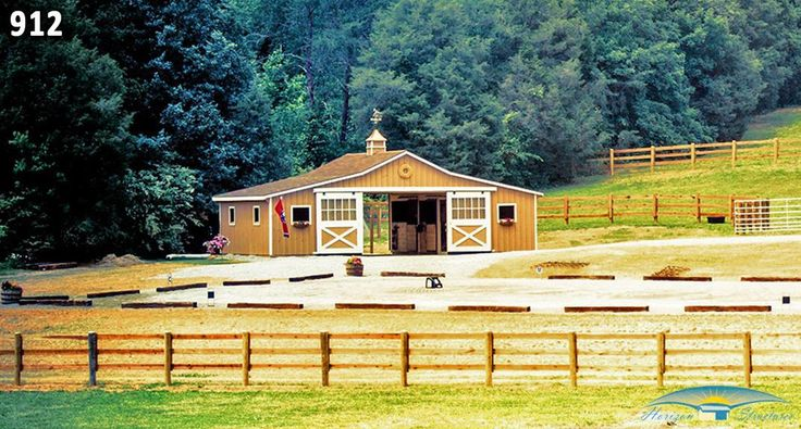 Low Profile Barn   Small Barn Pictures   Horizon Structures