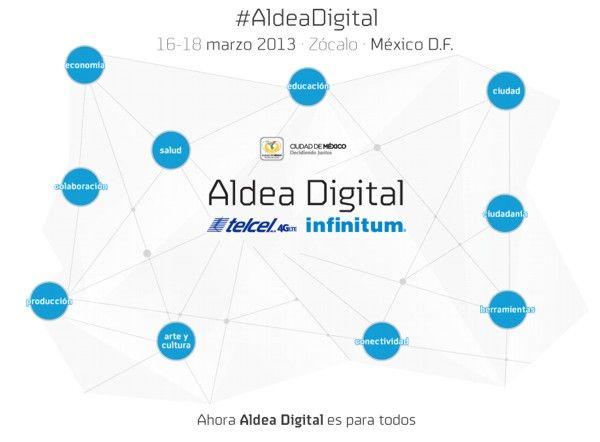 Aldea Digital 2013 se realizará en el Zócalo capitalino de la ciudad de México, del 16 al 18 de marzo.
