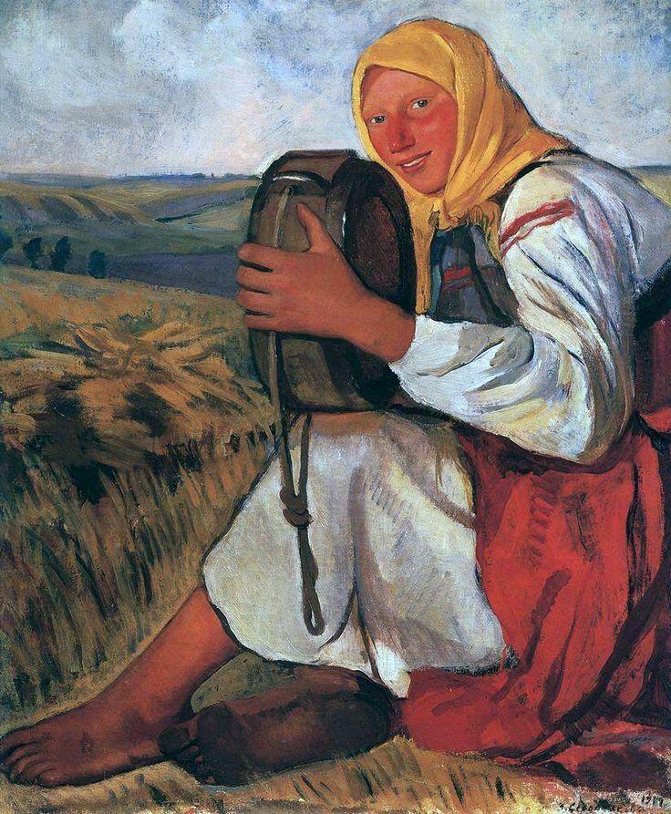 Зинаида Серебрякова «Крестьянка с квасником»