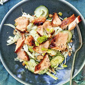 22 januari - Zalmfilet in de bonus - Recept - Aziatische salade met zalm - Allerhande