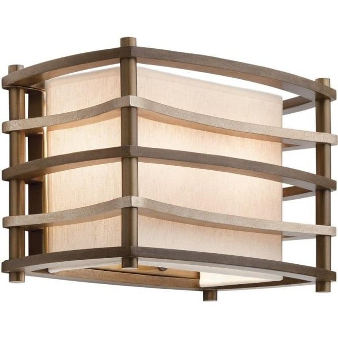The Moxie range of light fittings includes a selection of ceiling lights and a matching wall light that are designed in the USA and available in the UK for the first time. They have a warm updated retro look with more than a hint of Art Deco with the strong geometric shapes. The horizontal bronze bars curve in and out to give a softer silhouette and the inner linen fabric shades and white etched glass diffusers create a soft ambient light. The wall light shown here fits flush to the wall and…