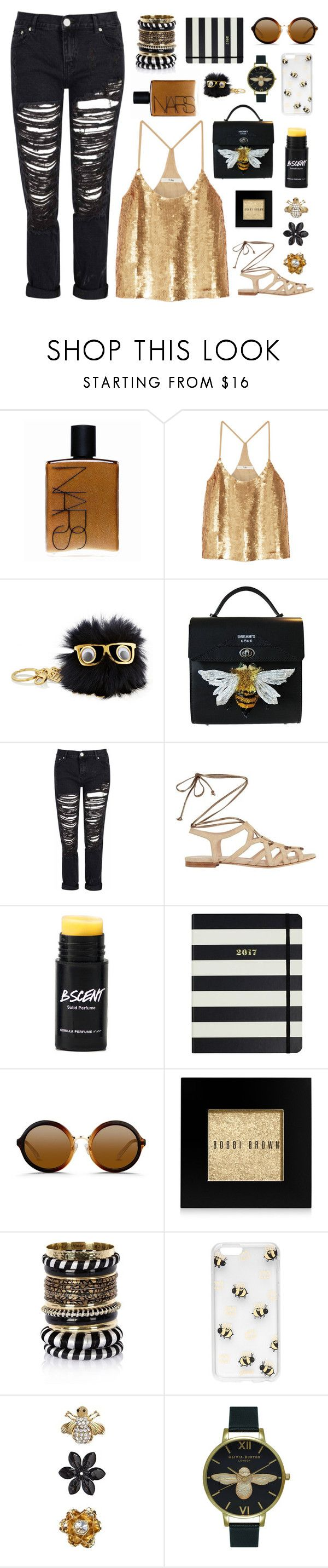 """B-e-etnik"" by gbaby707 ❤ liked on Polyvore featuring NARS Cosmetics, TIBI, Sophie Hulme, Glamorous, Duccio Venturi, Kate Spade, 3.1 Phillip Lim, Bobbi Brown Cosmetics, River Island and Sonix"