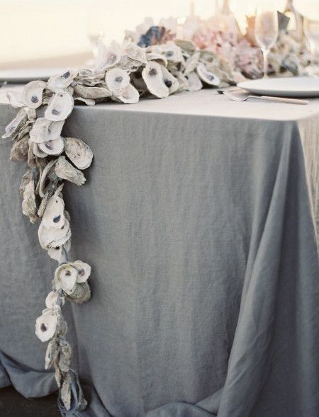oyster shell garland - my sister's dinner parties