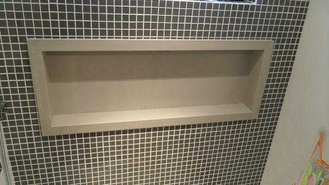 Utilizando porcelanato para construir nichos