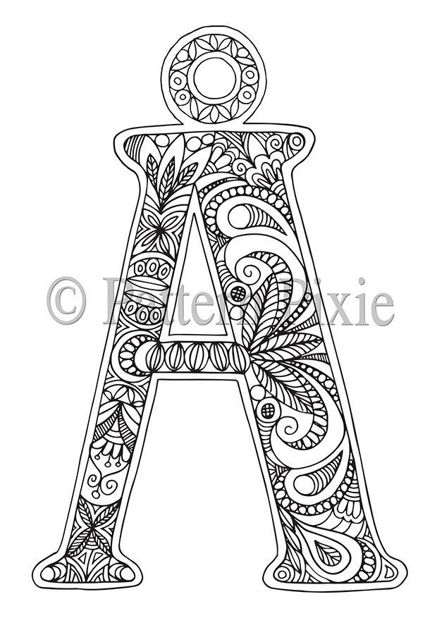 Alphabet Coloring Pages Advanced : Advanced coloring pages letters