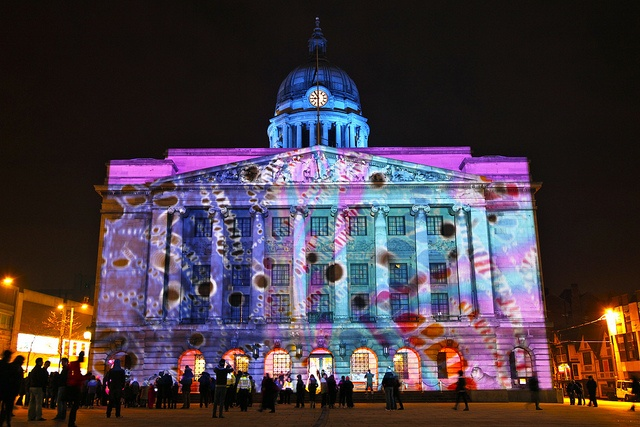 nottingham city council house, all lit up... beautiful photo!