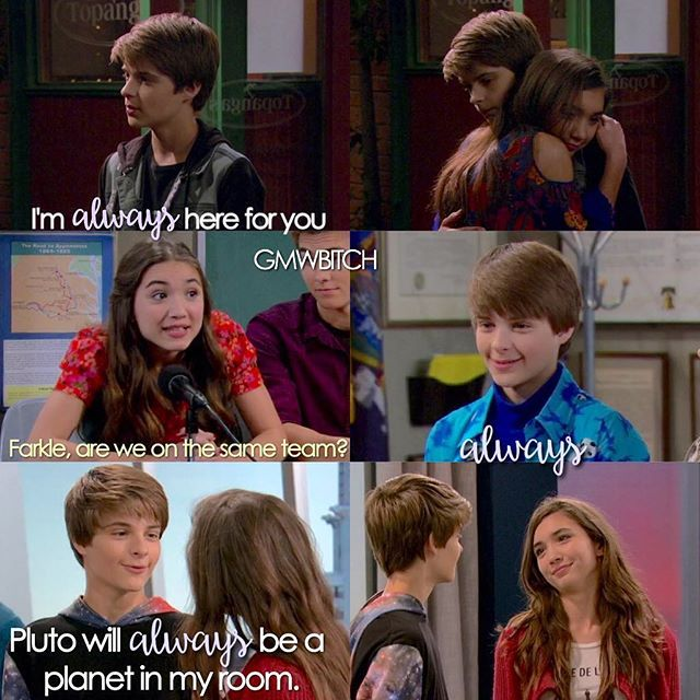 best of farkle girl meets world Maya's best friends are riley, the boy of her dreams, and missy bradford of all people and on top of all of that (or perhaps, because of all that), maya can't seem to create any actual art senior year is shaping up to be a wild ride, but then again , when isn't life throwing maya a few hardballs language: english words: 8,522.