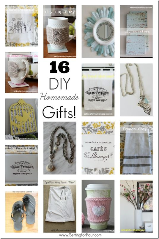 16 beautiful DIY Homemade Gifts to Make for gifts or for you!