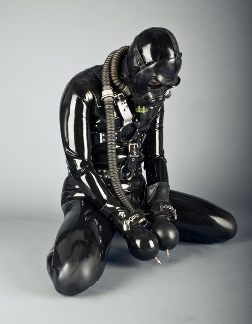 Male heavy rubber bondage hentai