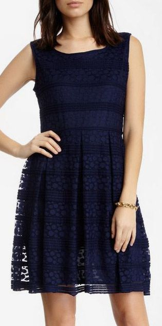 Max Studio Fit & Flare Lace Dress. I have this dress in yellow...so fun!