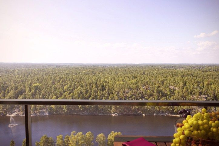Living next to both city and nature in Brf Blicken in Haninge.