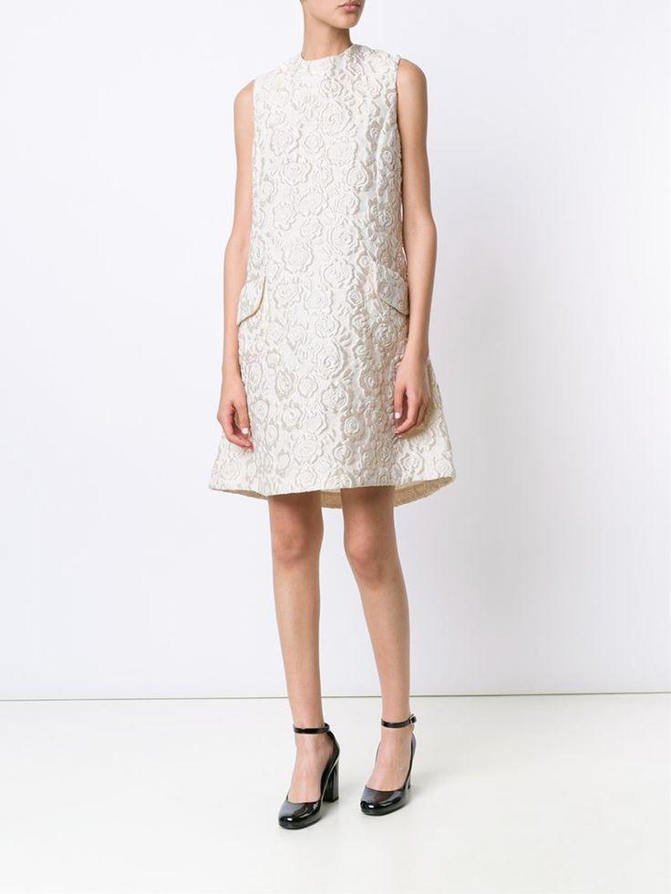 ¡Cómpralo ya!. Co Vestido De Jacquard Floral. Vestido de jacquard floral en mezcla de seda de color marfil de Co. , vestidoinformal, casual, informales, informal, day, kleidcasual, vestidoinformal, robeinformelle, vestitoinformale, día. Vestido informal  de mujer color blanco de Co.