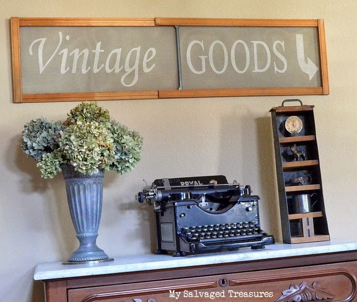 Farmhouse Friday #5 - Vintage Signs - Knick of Time-sign on window screen