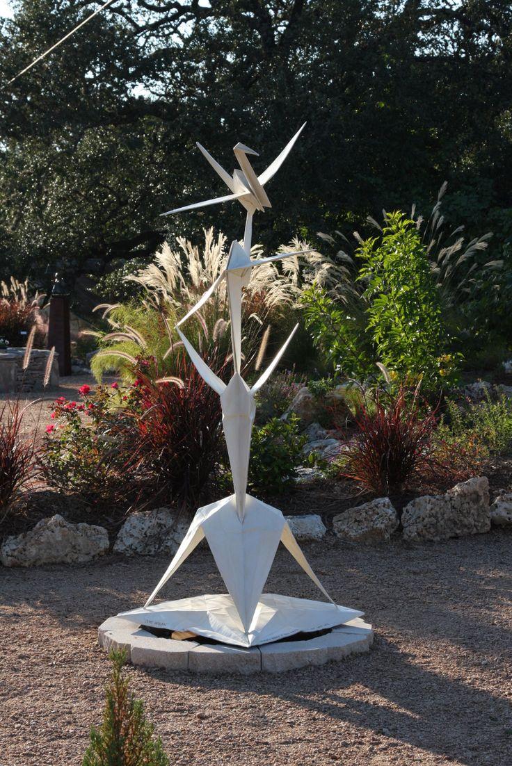 Crane Unfolding  This Is In The Turquoise Trail Garden Too  #turquoisetrailsculpturegarden, #origami