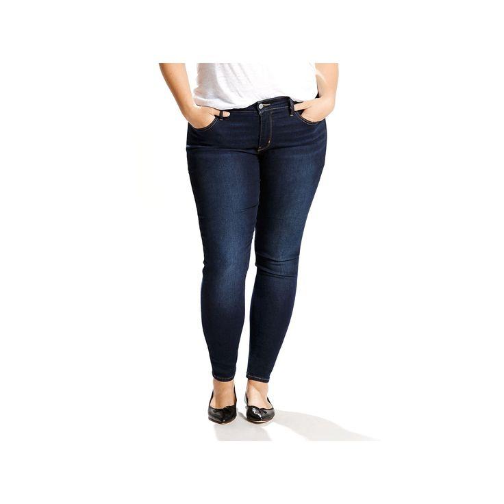 Plus Size Levi's 310 Shaping Super Skinny Jeans, Women's, Size: 18 - regular, Dark Blue