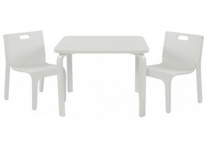 Tafelset 'Wave' wit voor kinderen   Set York White   Tafeltjes en stoelen