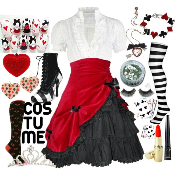 The Red Queen: Costume, created by calypsosugar on Polyvore