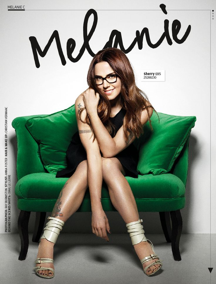 Melanie C is Spectacle Wearer of the Year ambassador for 2013. Here she wears  'Sherry' glasses, £85 at Specsavers.