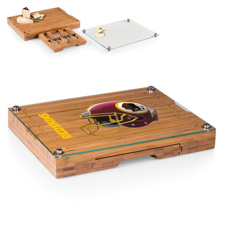 Washington Redskins Concerto Cheese Board with Serving Stage and Tools