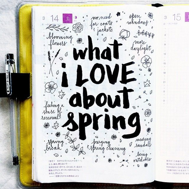 journal page idea... what I love about spring                                                                                                                                                                                 More