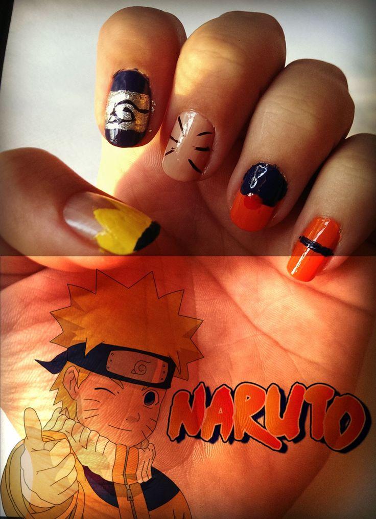 Naruto Nail Art Uñas, Pintauñas, Maquillaje