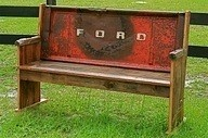 Truck tailgate bench: Ford Trucks, Idea, Automotive Decor, Old Trucks,  Upright Piano, Trucks Tailgating Benches, Church Pew, Man Caves, Gardens Benches