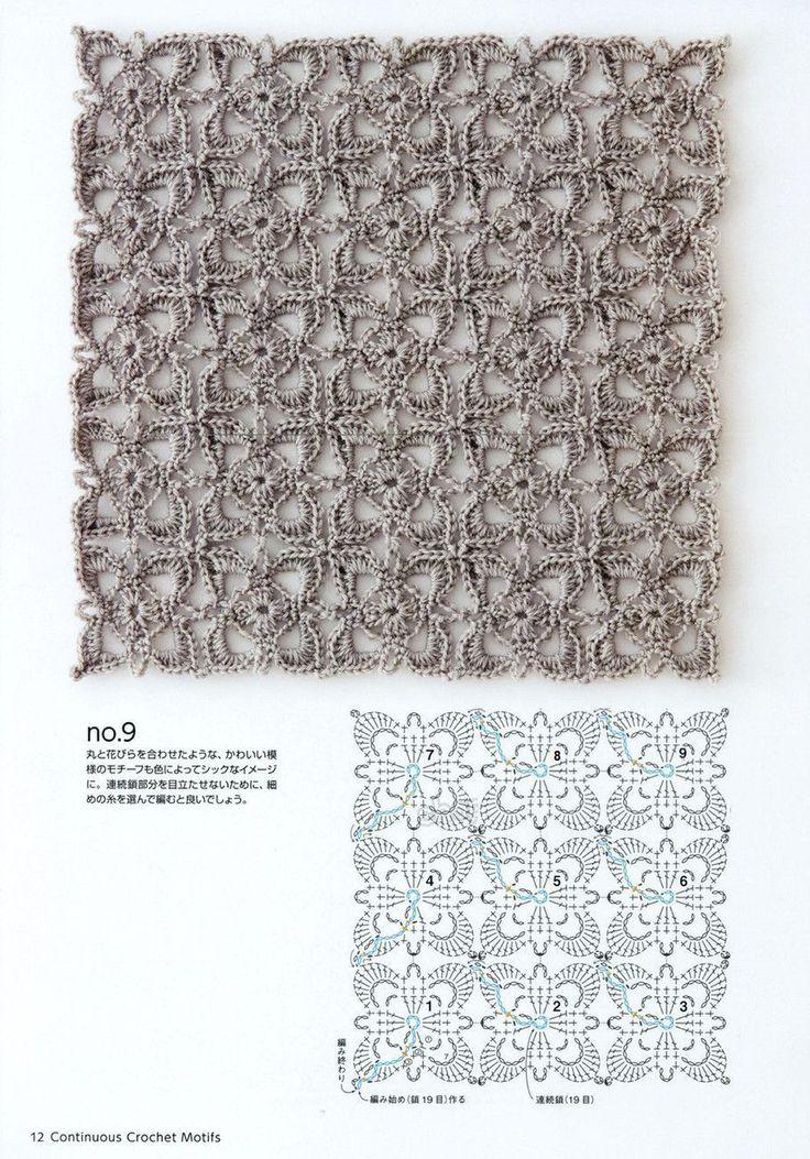 """Безотрывное вязание Альбом """"Continuous Crochet Motifs"""" 2016г. Обсуждение на LiveInternet - Российский Сервис Онлайн-Дневников"""