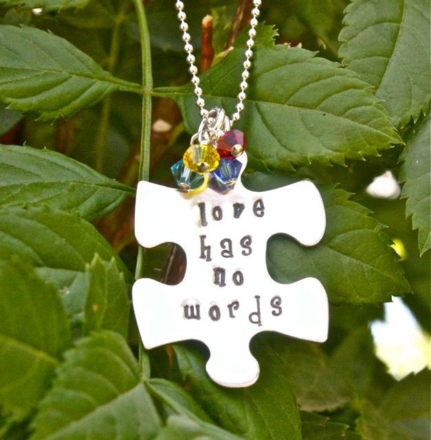 NEW  Autism Puzzle Necklace  Autism Jewelry by TomisTreasures. , via Etsy.